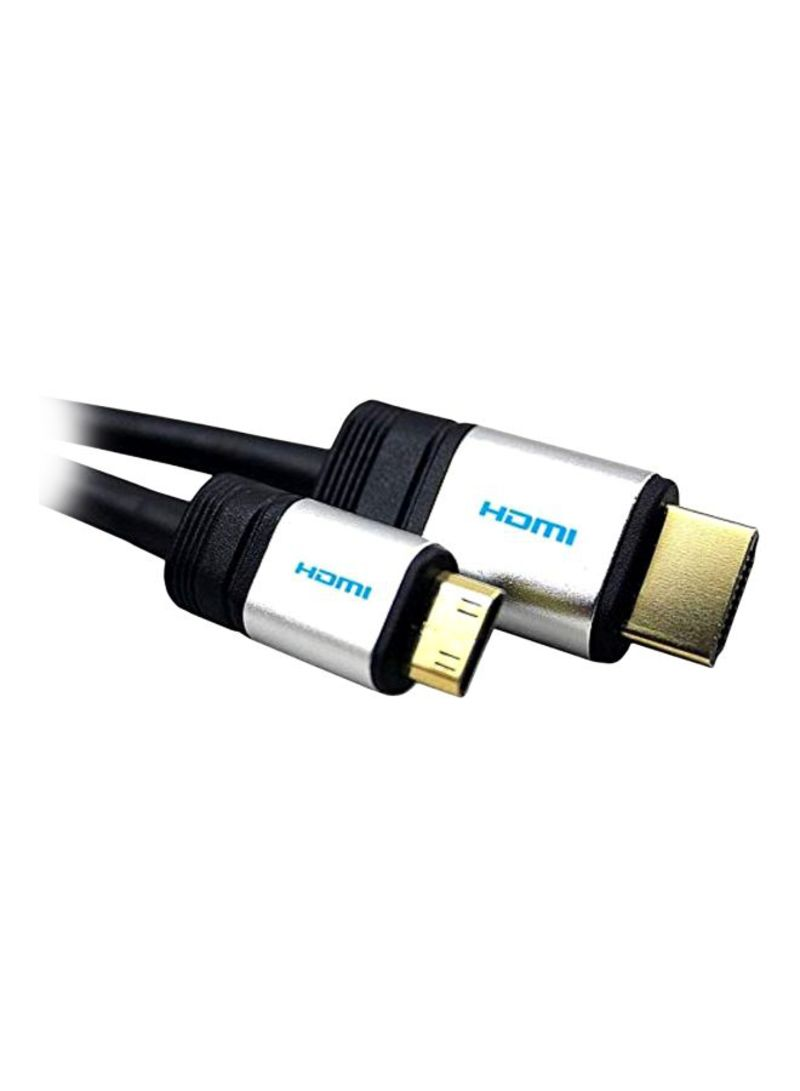 HDMI HDTV Cable For Canon EOS 60Da Black/Chrome/Gold 1.5 meter