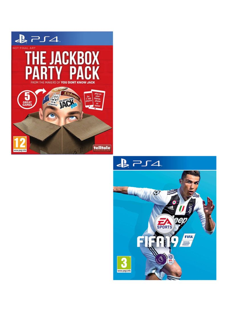 The Jackbox Games Party Pack & FIFA 19 : Standard Edition  - PlayStation 4