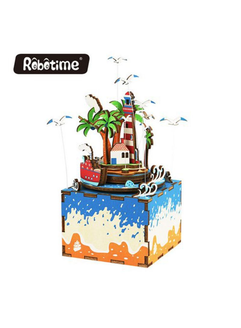 Handcraft 3D Wooden Vocational Island With Music Box