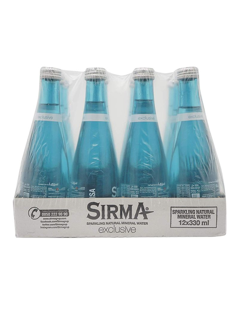 Sparkling Natural Mineral Water 12x330 ml Pack of 12