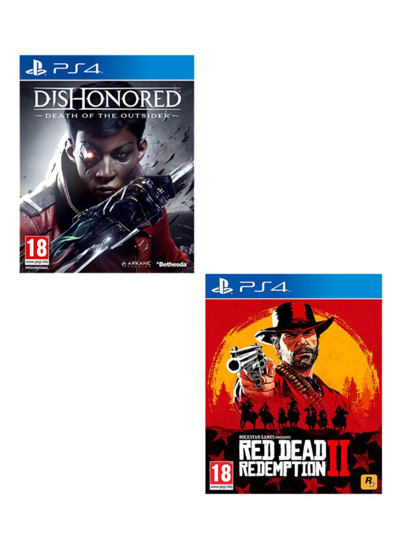 Dishonored Death Of The Outsider + Red Dead Redemption 2  -  PlayStation 4