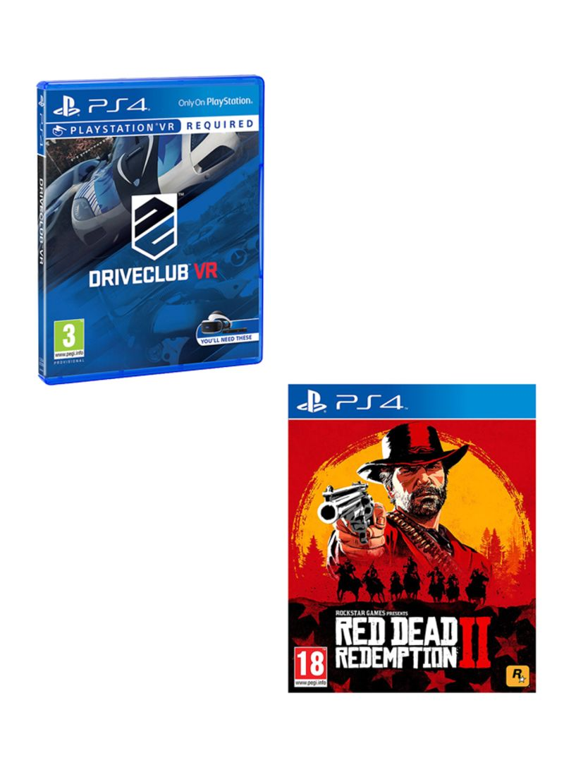 Driveclub VR + Red Dead Redemption 2  -  PlayStation 4
