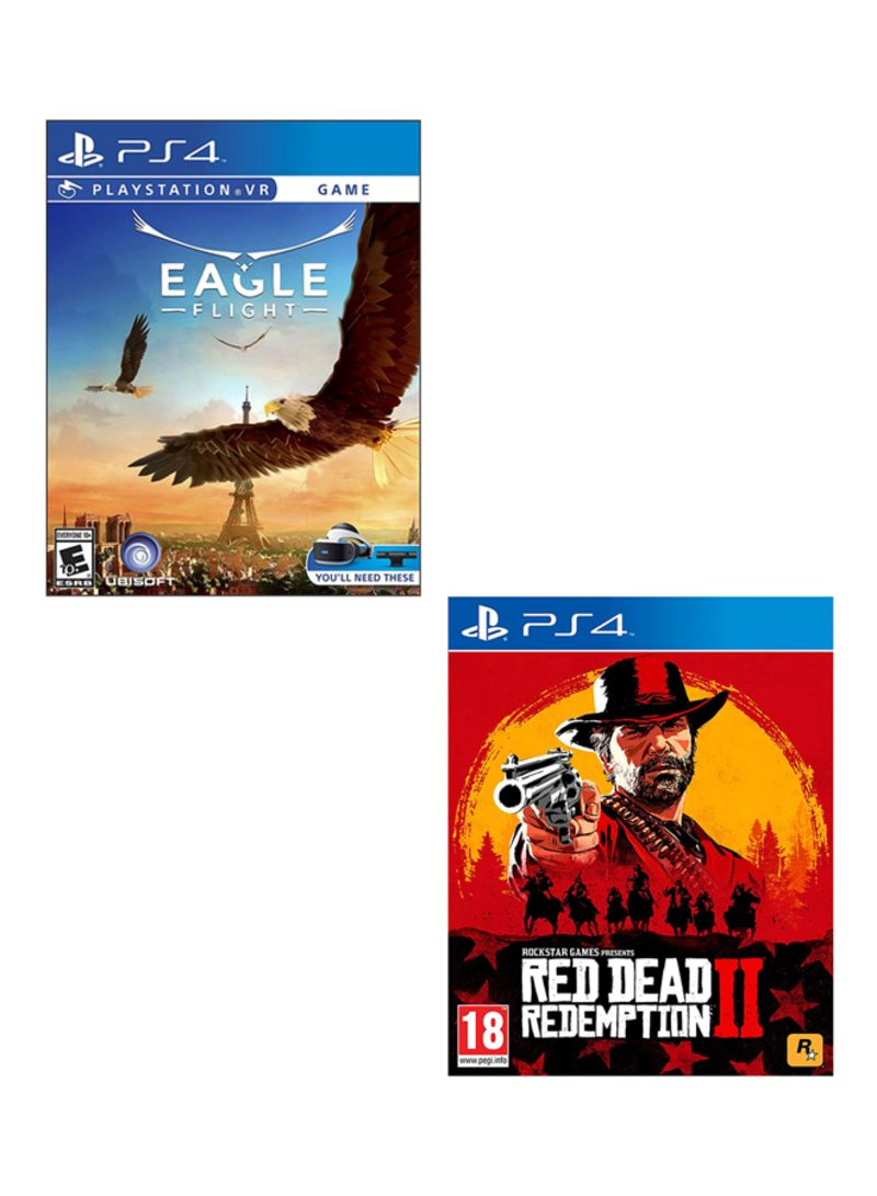 Eagle Flight VR Blu Ray DVD + Red Dead Redemption 2  -  PlayStation 4