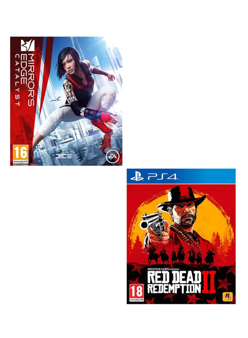 Mirrors Edge Catalyst + Red Dead Redemption 2  -  PlayStation 4