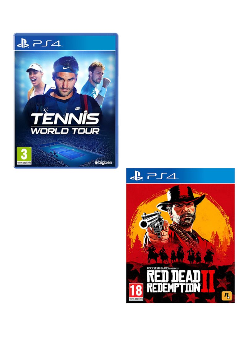 Tennis World Tour + Red Dead Redemption 2  -  PlayStation 4