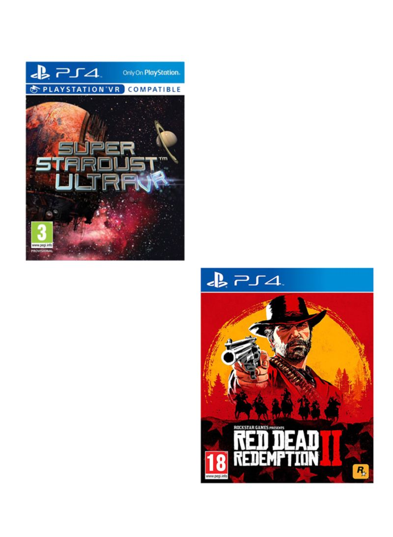 Super Stardust Ultra VR + Red Dead Redemption 2  -  PlayStation 4