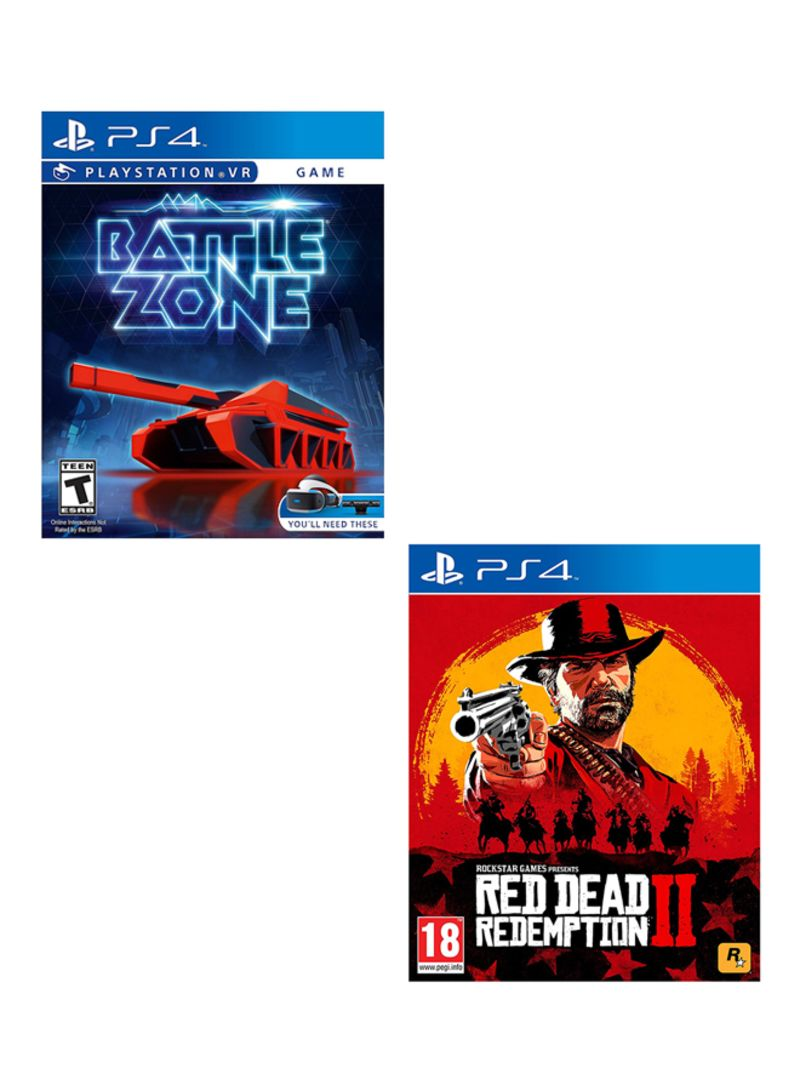 Battle Zone Playstation VR + Red Dead Redemption 2  -  PlayStation 4