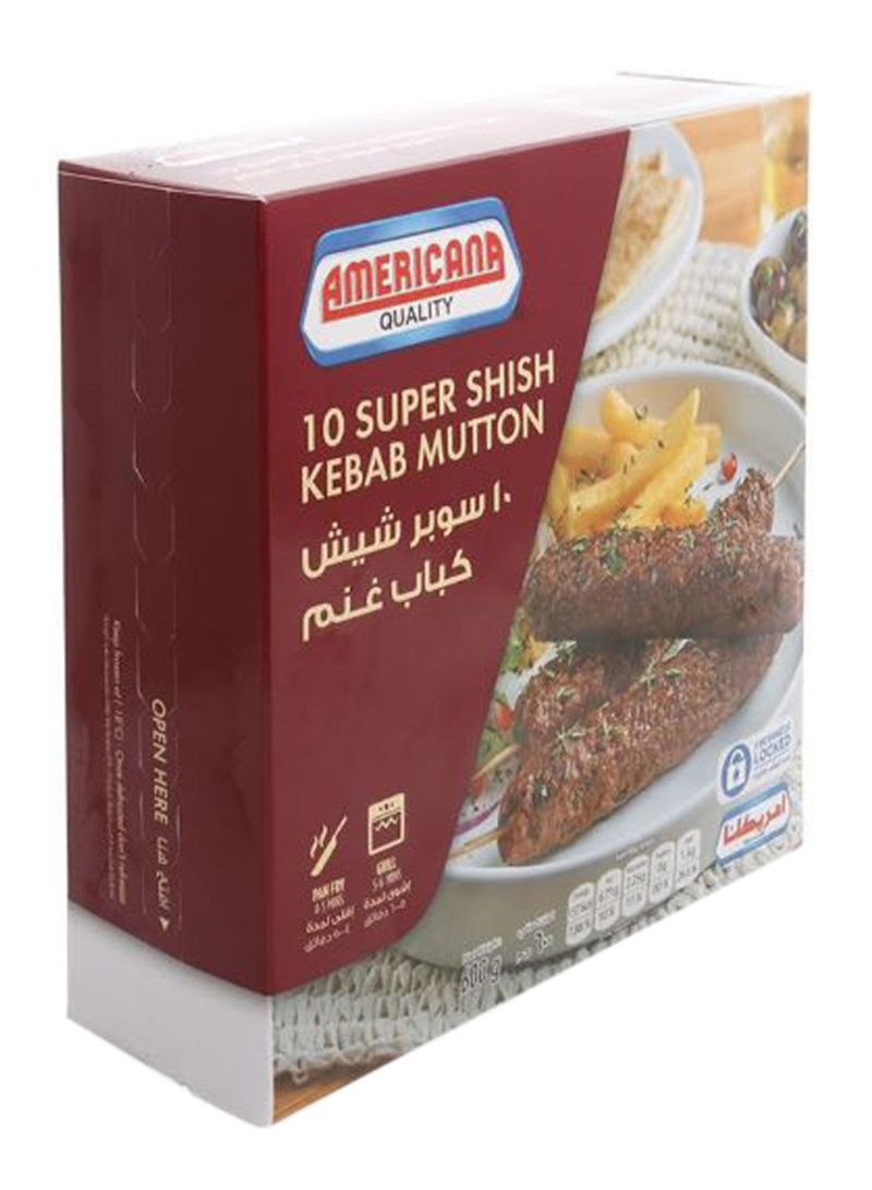 Super Shish Kebab Mutton 600 g Pack of 10