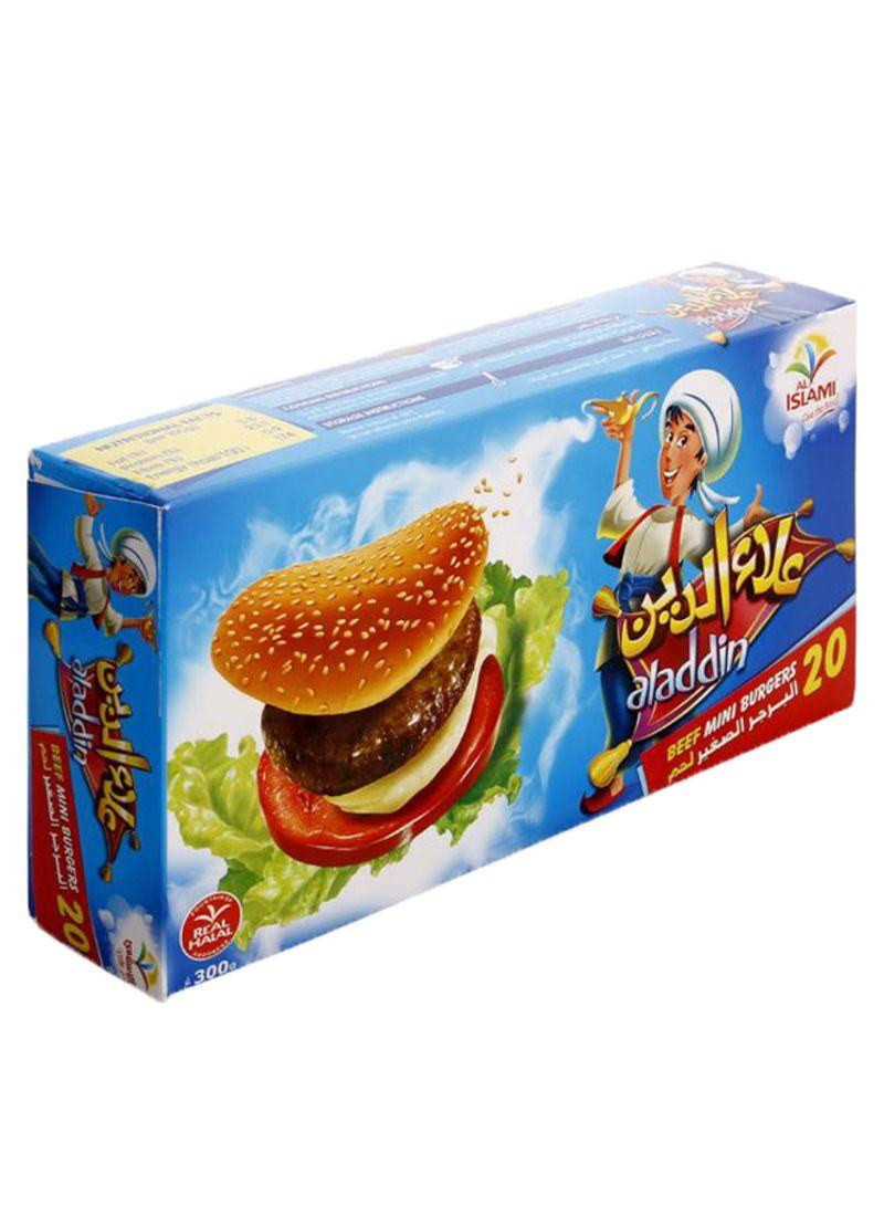 Alladin Mini Beef Burgers 300 g Pack of 20