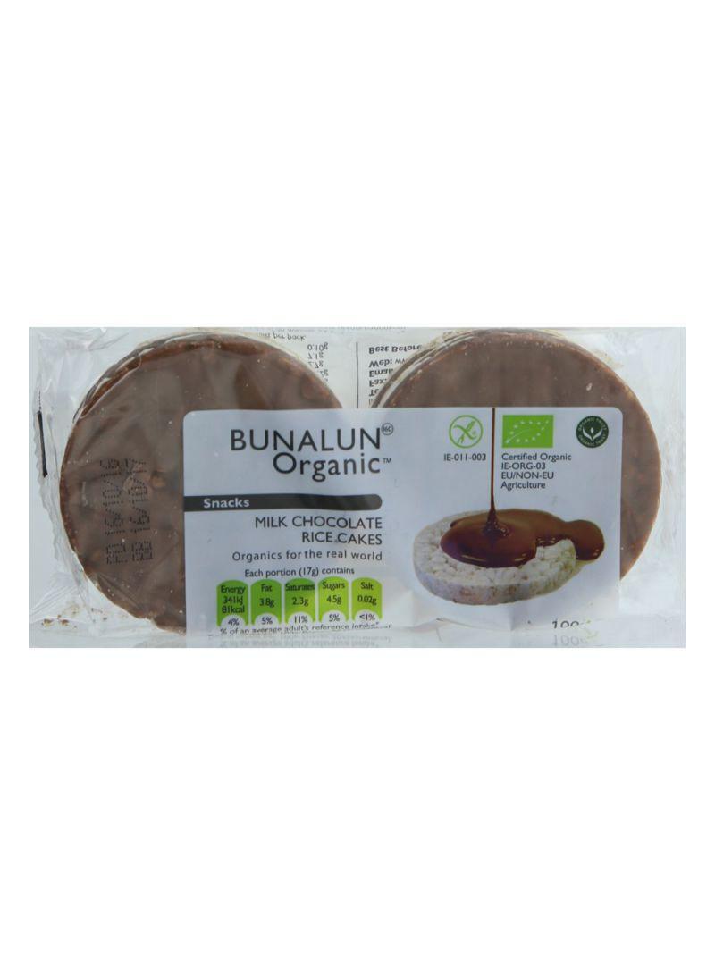 Organic Milk Chocolate Rice Cakes 100 g