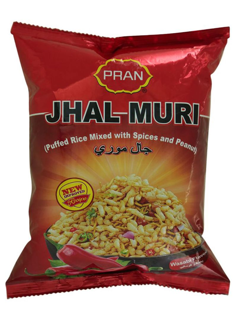 Jhal Muri Puffed Rice Mixed With Spices And Peanut Wasbi Flavour 150 gm