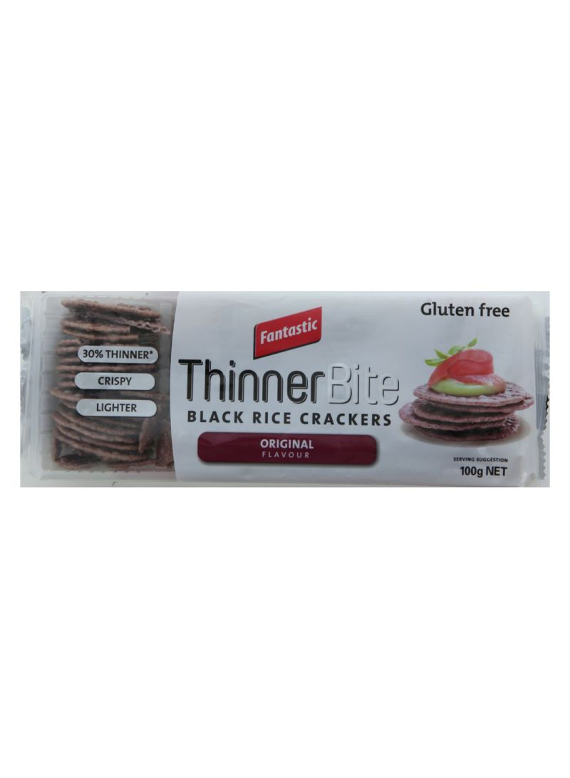 Thinner Bite Black Rice Crackers 100 g