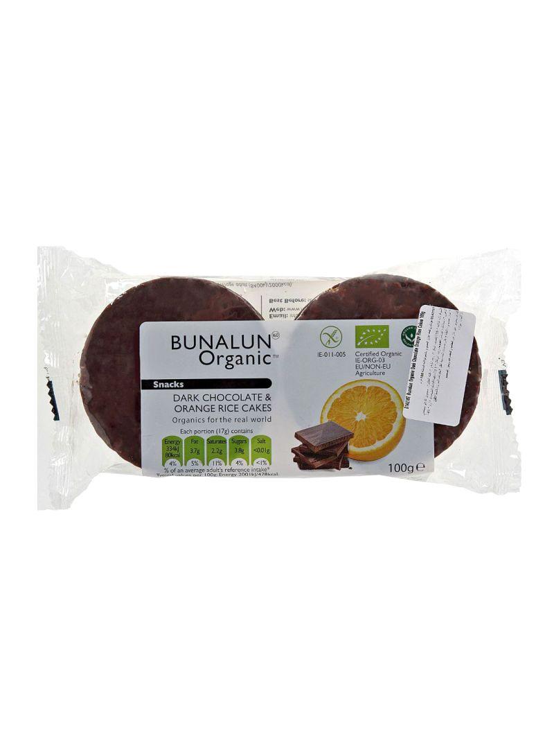 Organic Dark Chocolate & Orange Rice Cakes 100 g