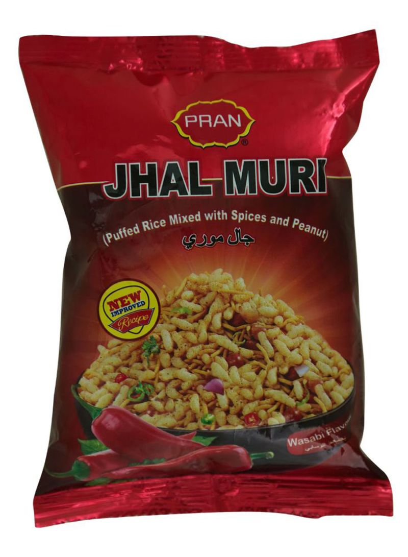 Jhal Muri Puffed Rice Mixed With Spices And Peanut Wasbi Flavor 50 g