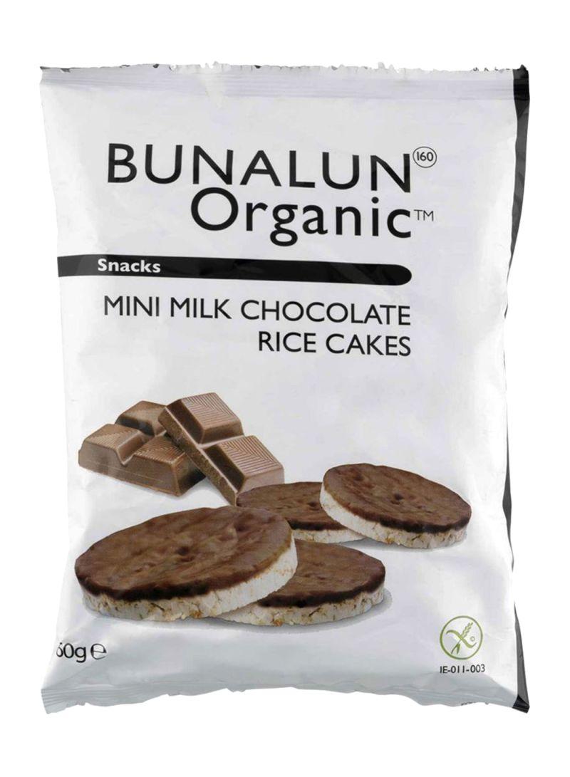 Organic Mini Milk Chocolate Rice Cakes 60 g