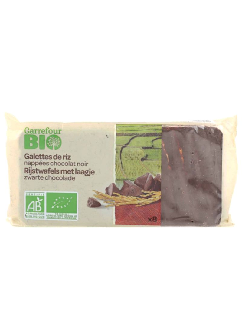 Bio Organic Dark Chocolate Rice Cakes 100 g