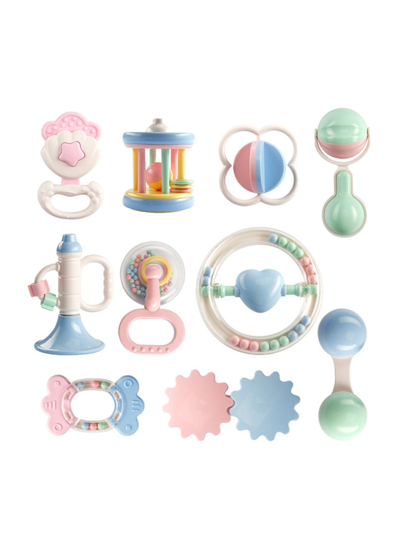 10-Piece Baby Rattles Teether Set
