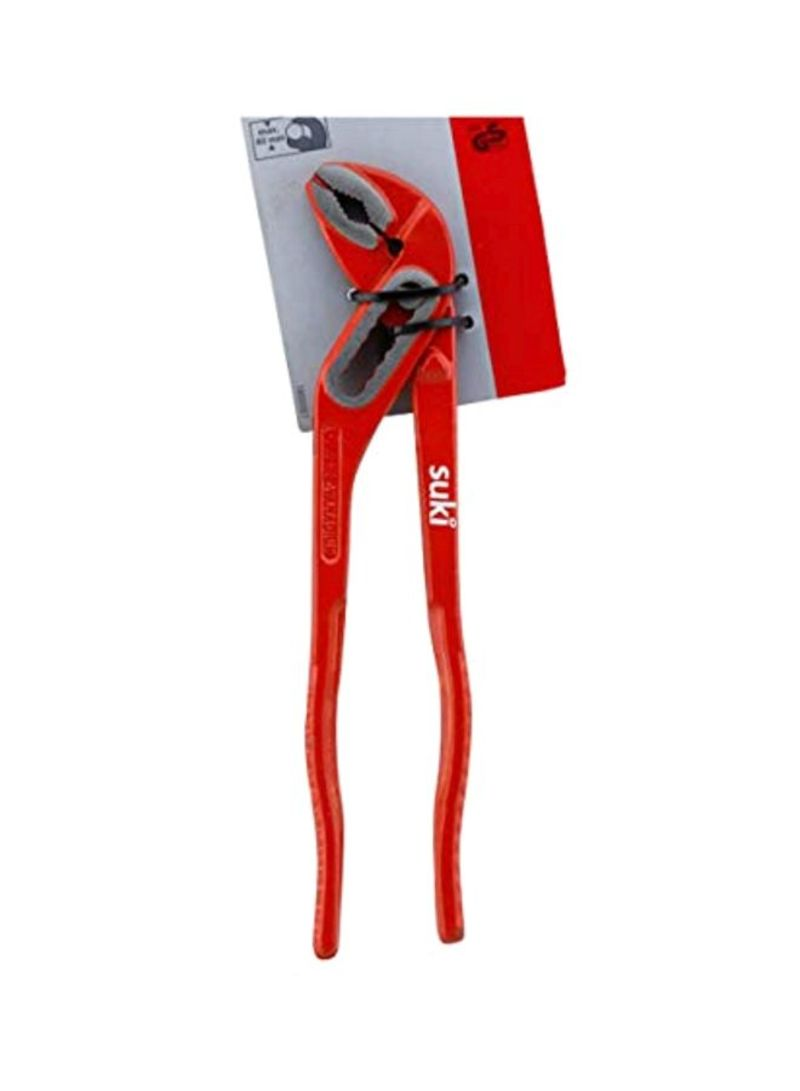 Water Pump Pliers With Handle Red/Silver 240 millimeter