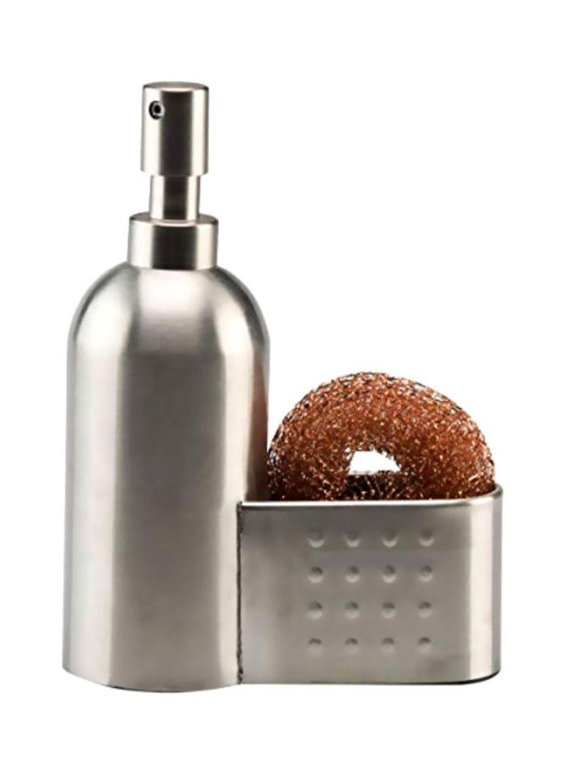 Inter Design Forma Soap And Scrub Silver 36.8x42.6x55.1 centimeter