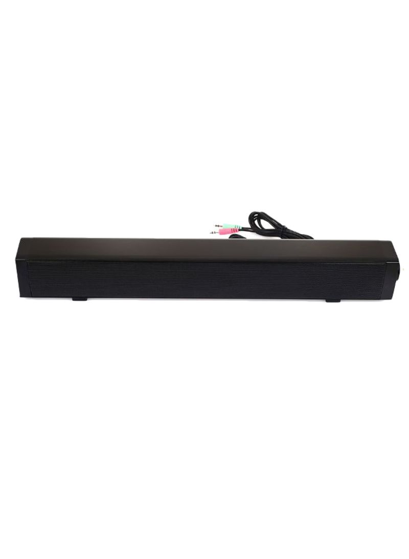 Home Theater USB Multimedia Sound Bar 405509 Black