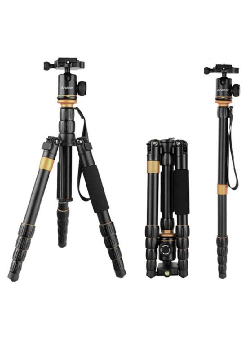 Adjustable Video Tripod Monopod Ball Head Photography For Canon Nikon Sony Panasonic DSLR Digital Camera Camcorder Black/Gold