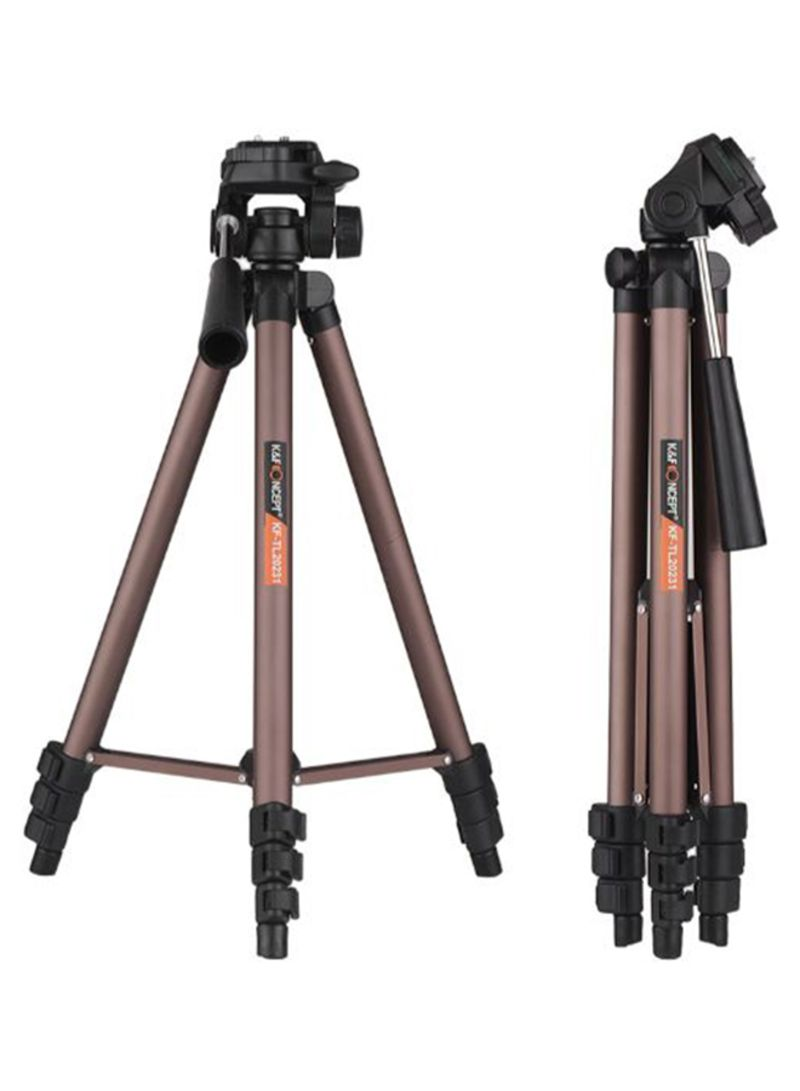 Folding Tripod Stand Black/Brown 49 inch