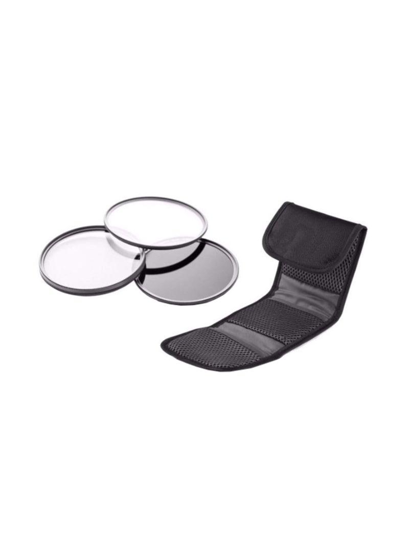 3-Piece Lens Filter Kit For Panasonic Lumix DMC-FZ300 Multicolour