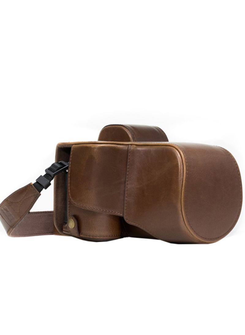 Protective Camera Case With Strap For Sony Alpha Brown