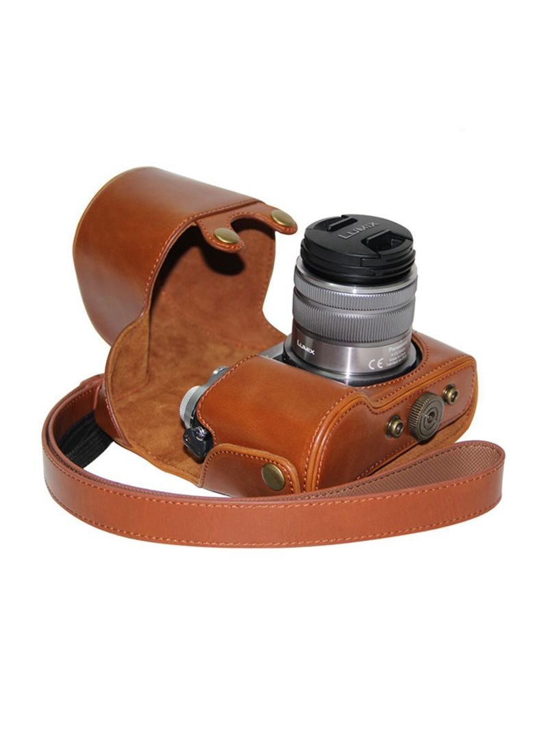 Protective Camera Case With Strap For Panasonic LUMIX GX7 Brown