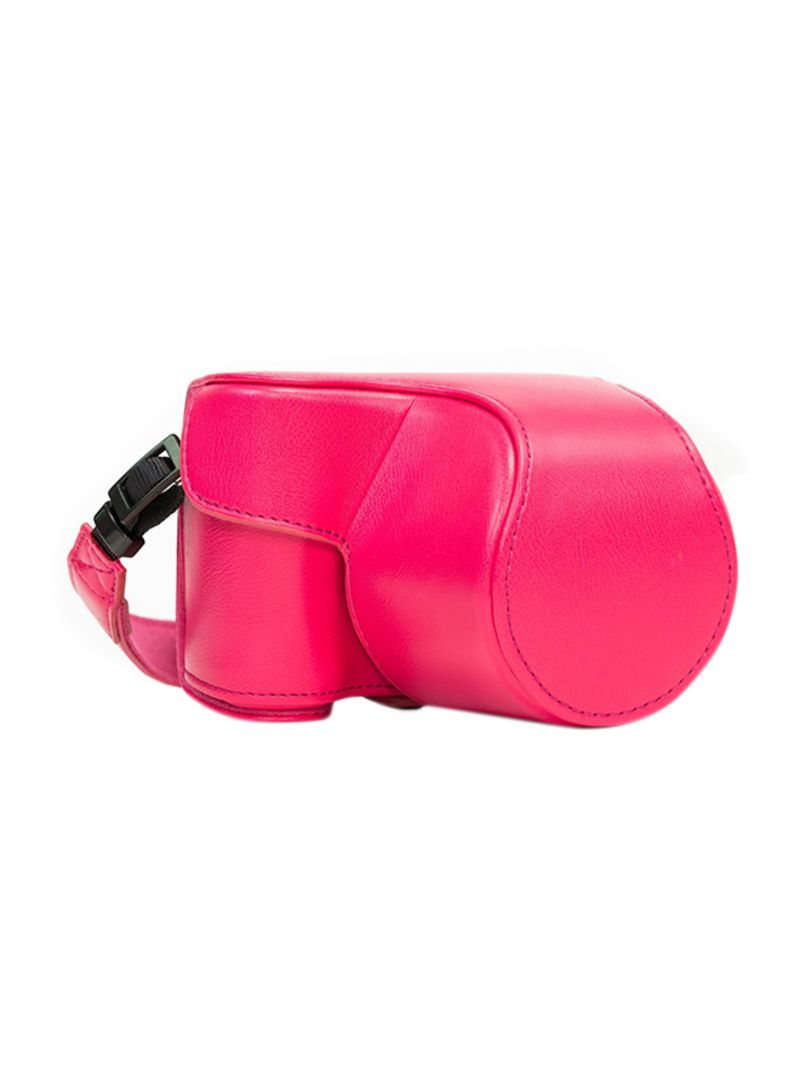Protective Camera Case With Strap For Sony Alpha a5000/ a5100 Pink