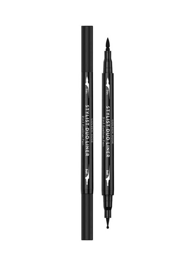 Stylist Duo Liner 2 in 1 Eyeliner Pen Black