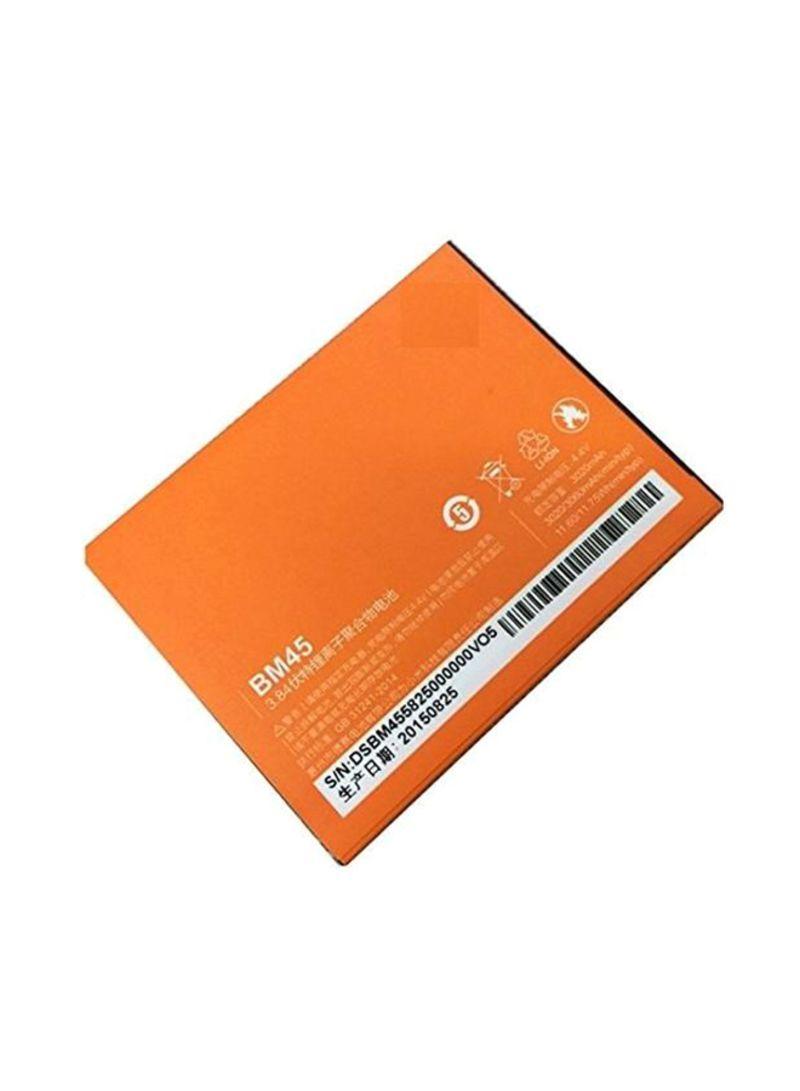 Replacement Battery For Xiaomi MI Redmi Note 2 BM45 Orange/White 3060 mAh