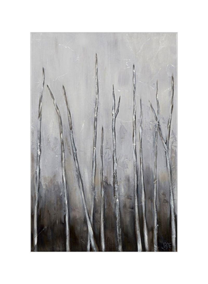 Bare Tree Tops I Wall Poster Grey/Black 80x3.5x90 centimeter