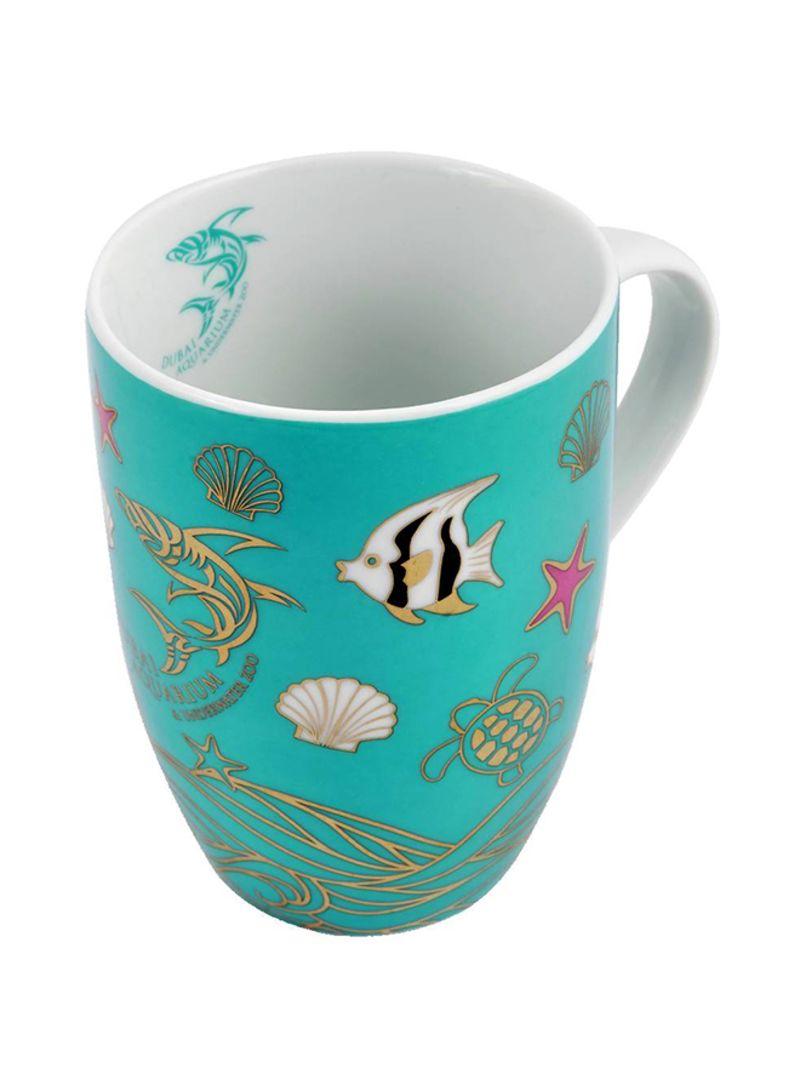 Dubai Aquarium Printed Design Coffee Mug Multicolour 12 centimeter