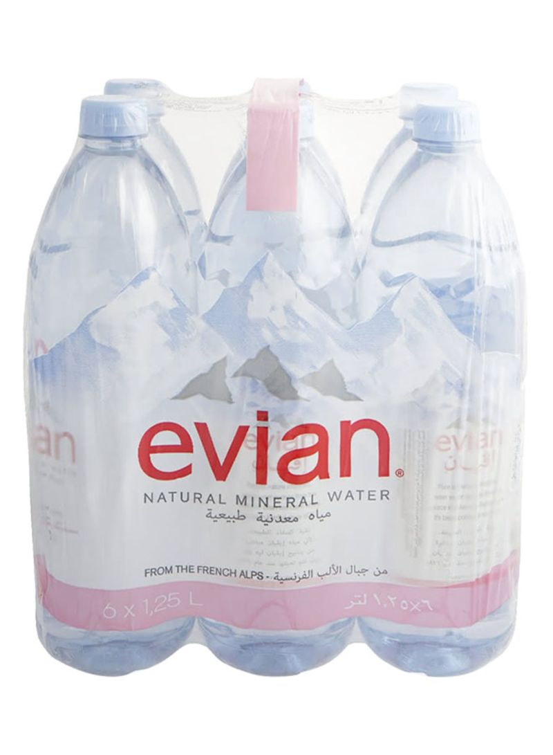 Natural Mineral Water 1.25L 1.25L liter Pack of 6