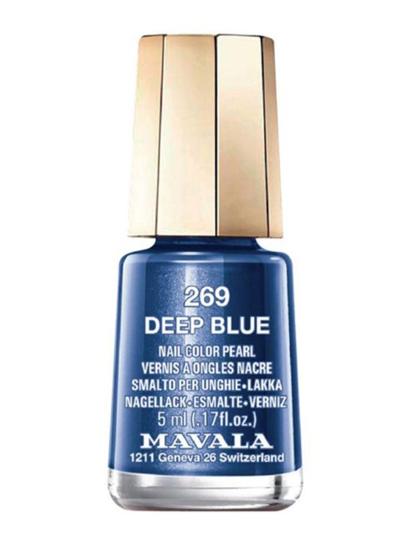 Glossy Nail Polish 269 Deep Blue