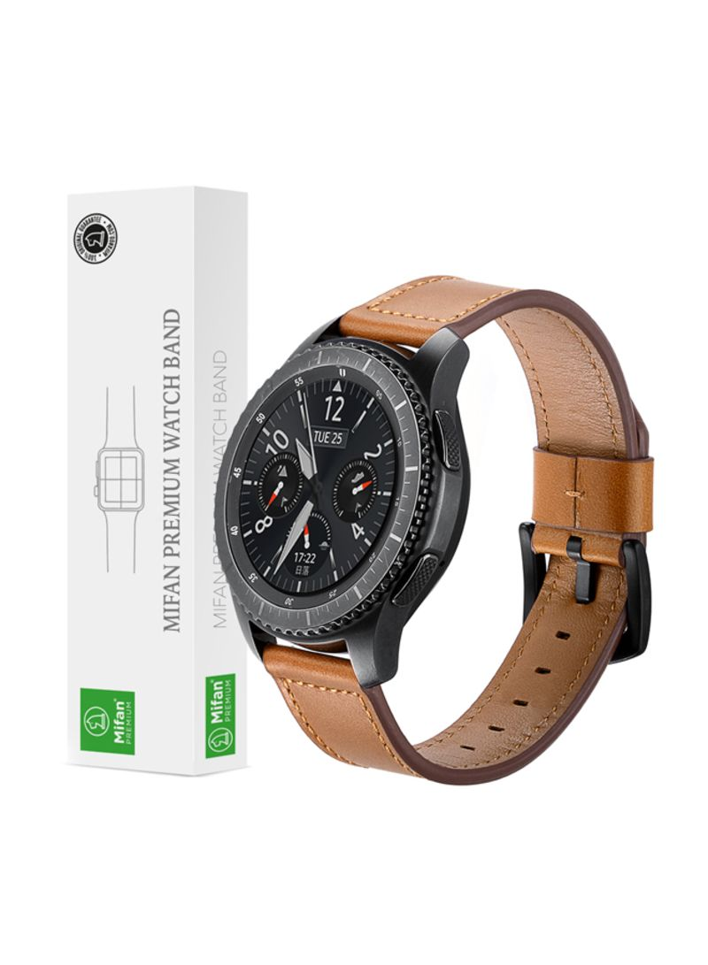 Replacement Band For Samsung/Huawei/Garmin/Fossil Smart Watch Brown 22 millimeter