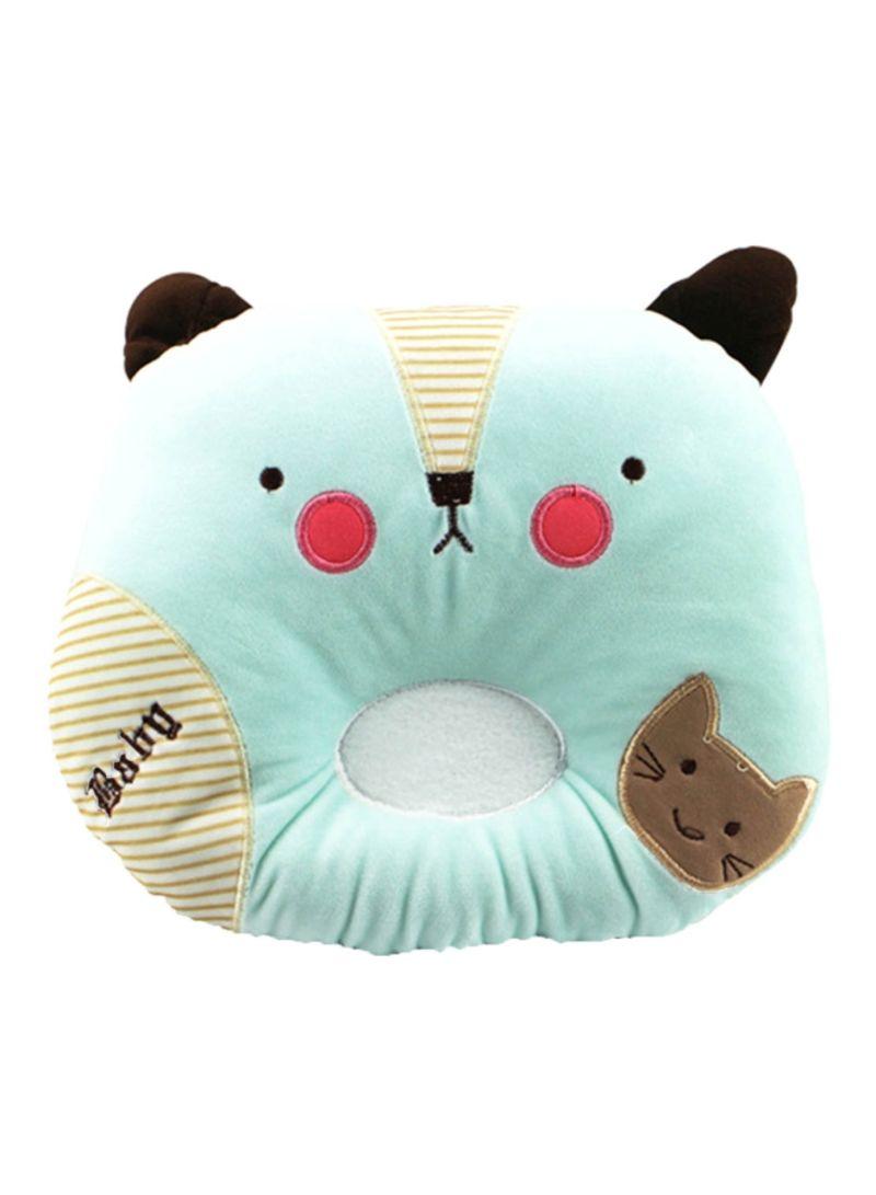 Pikachu Face Shaped Newborn Baby Anti-Head Correction Pillow Green/Black/Brown 25x19 centimeter
