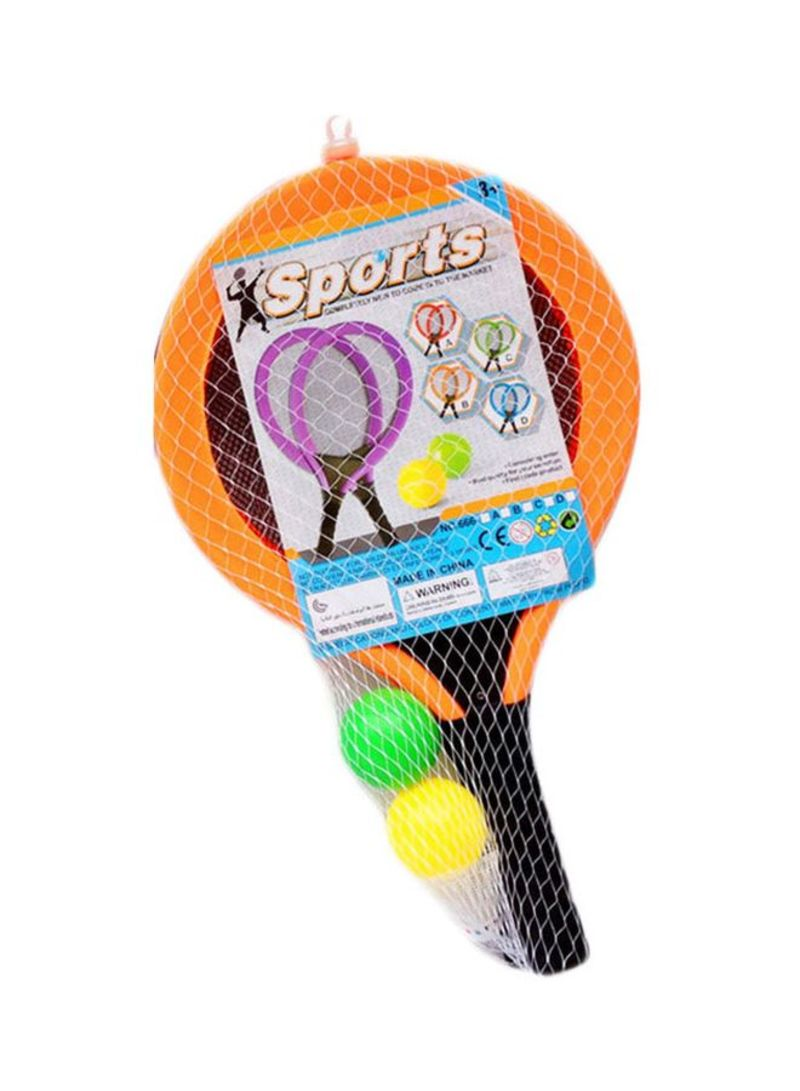 Pack Of 2 Tennis Rackets With Balls