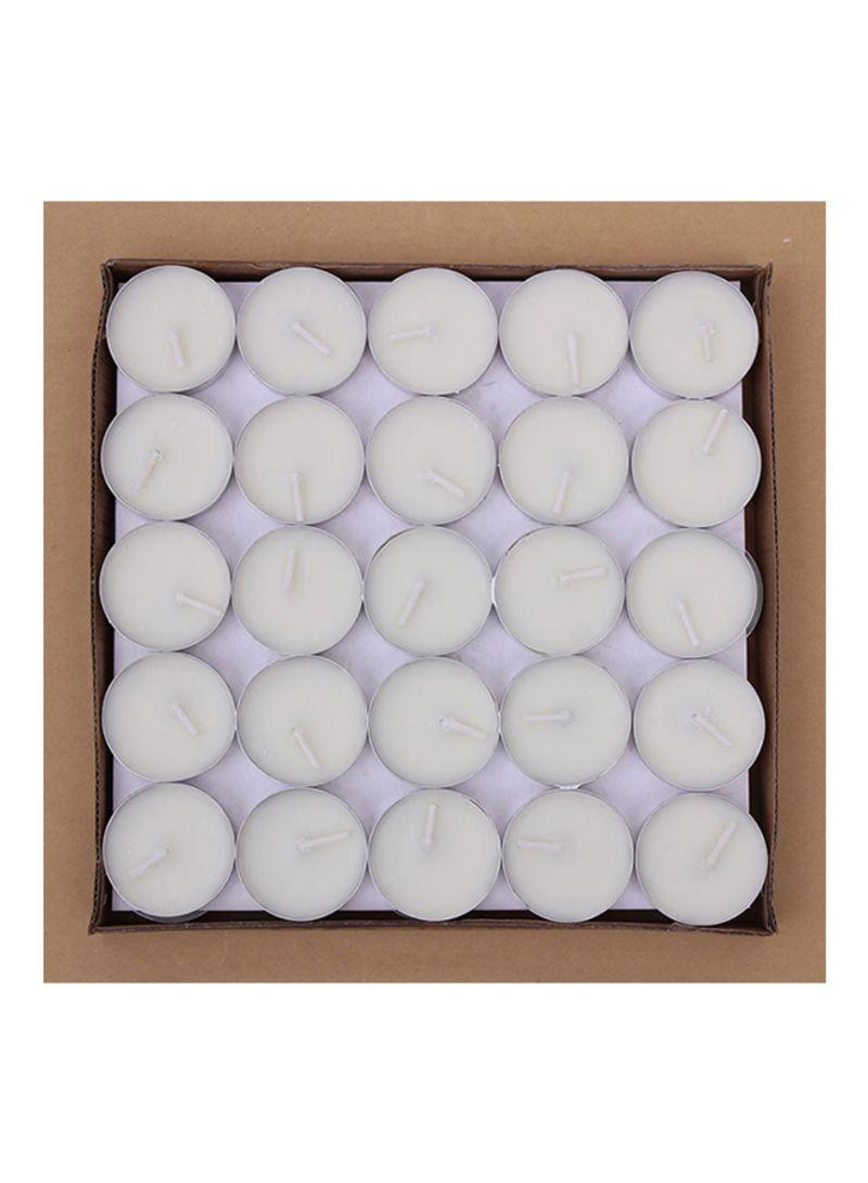 50-Piece Unscented Tealight Candles Set White 20x8x20 centimeter
