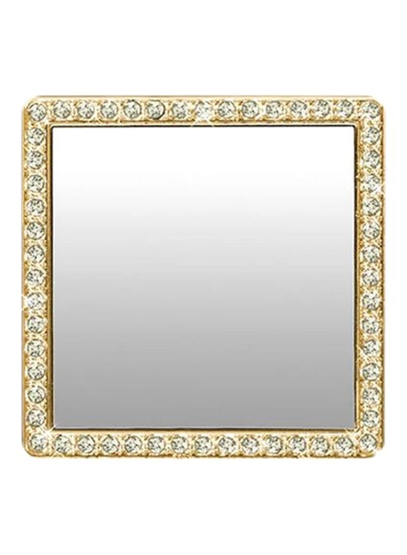 Square Shaped Phone Back Cover Mirrors With Crystal Clear/Gold