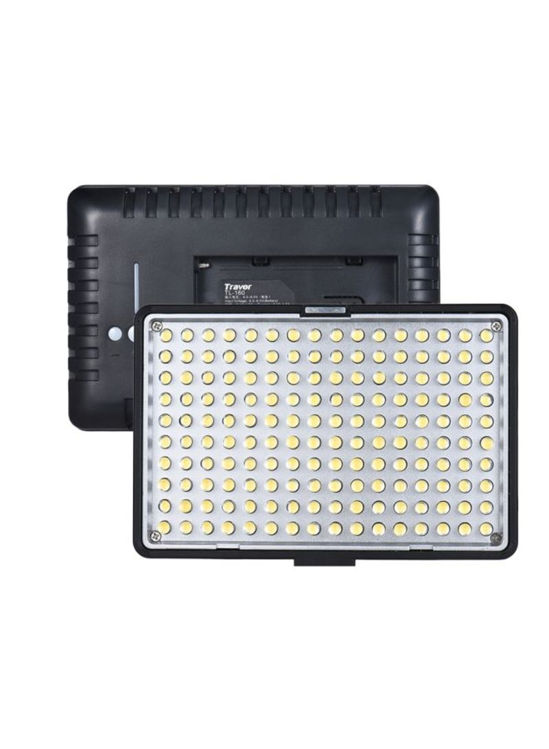 TL-160 Dimmable Video Light With Filters White