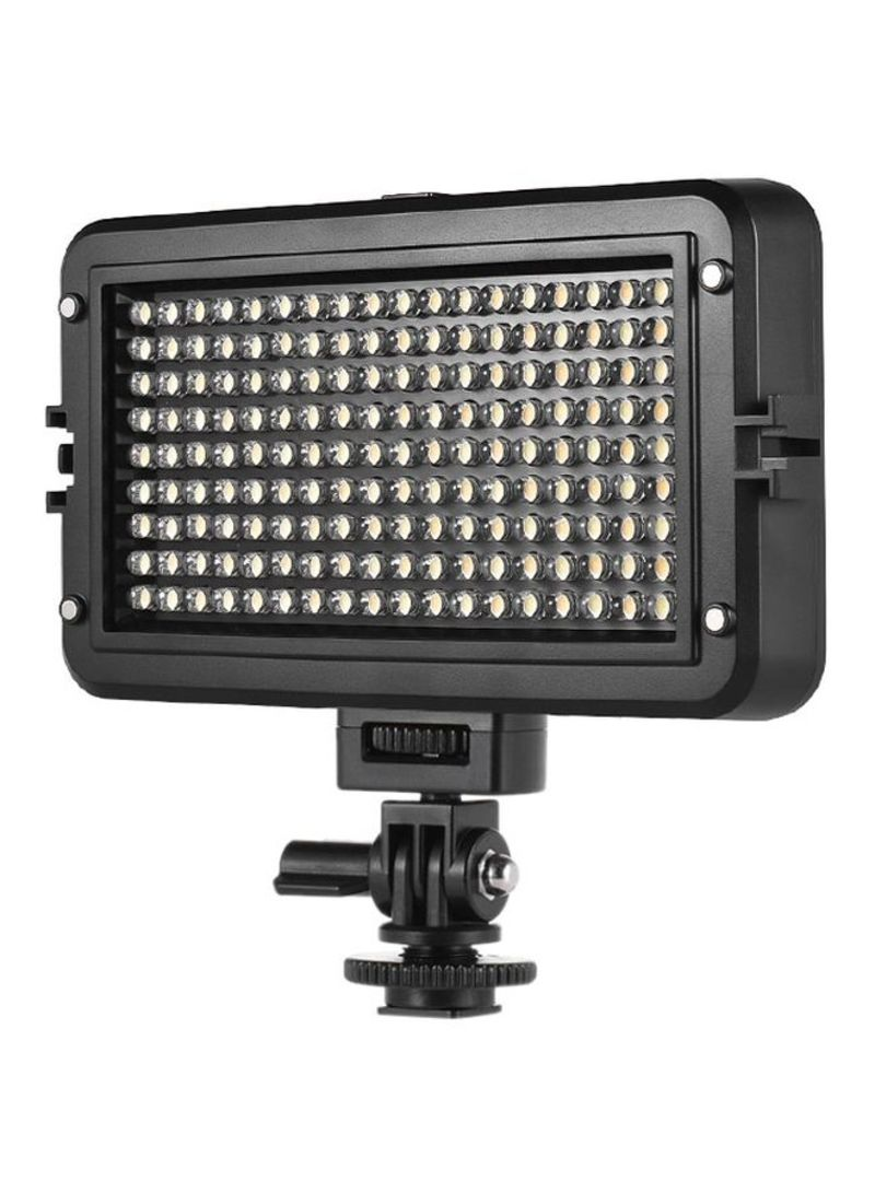 LED Video Light With Digital LCD Panel For Canon/Nikon/Sony DSLR Camera And Camcorder Black