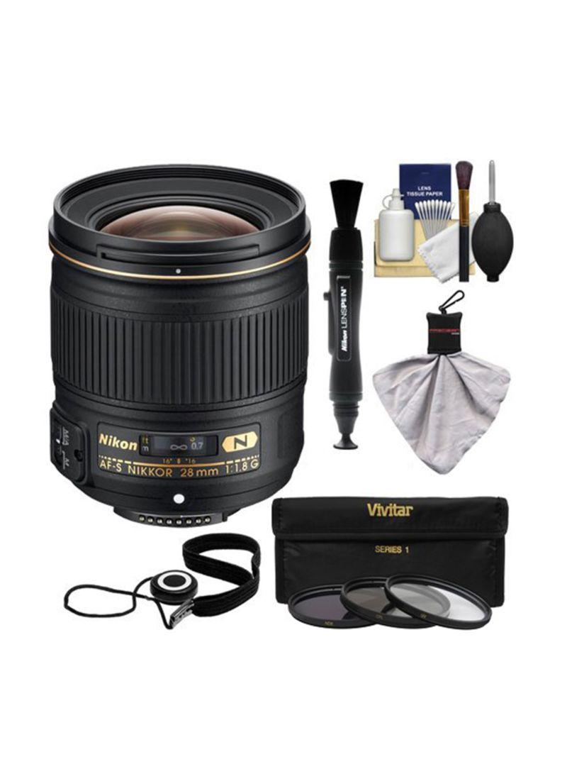 AF-S Nikkor 28mm f/1.8 Lens For Nikon DSLR Camera Black