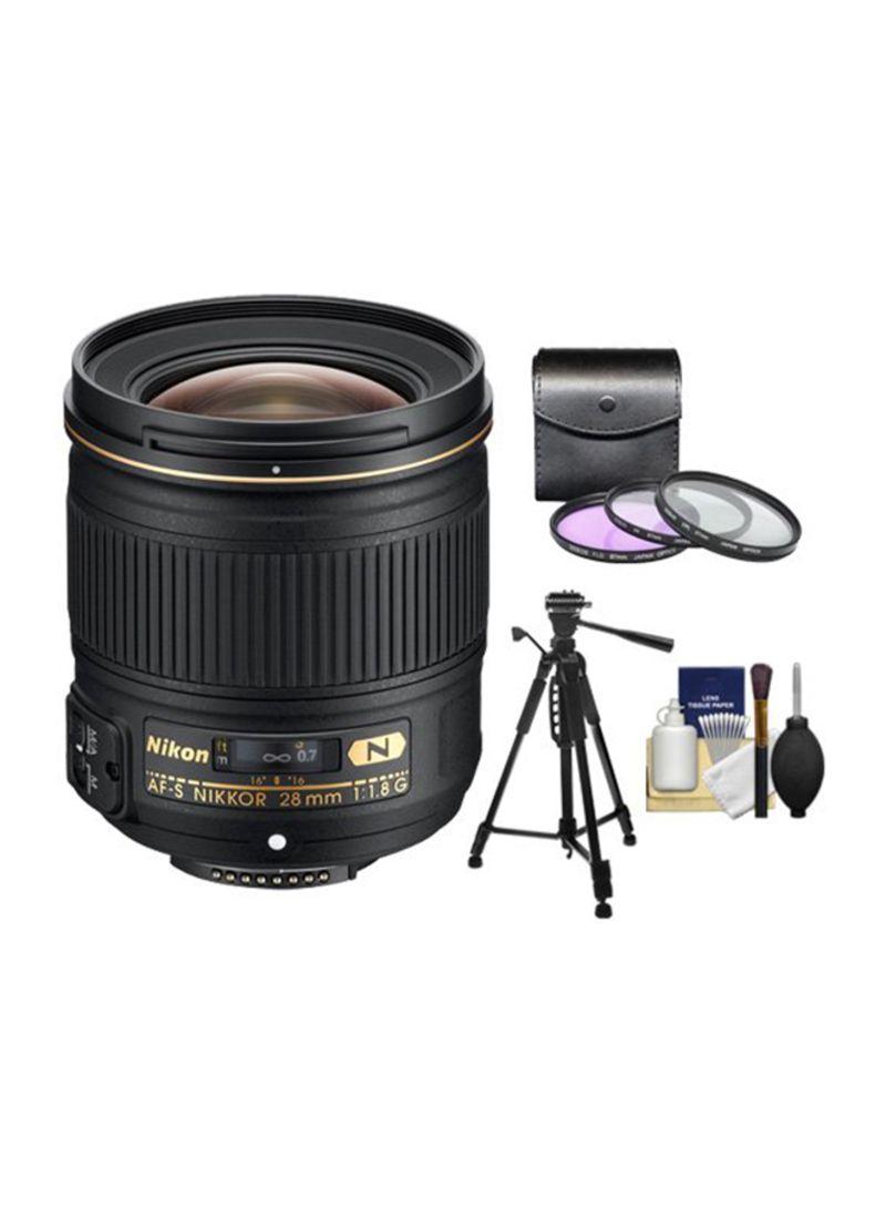 AF-S NIKKOR 28mm F/1.8G Lens Kit For Nikon Black