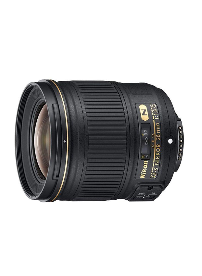 AF-S NIKKOR 28mm F/1.8G Lens For Nikon Camera Black