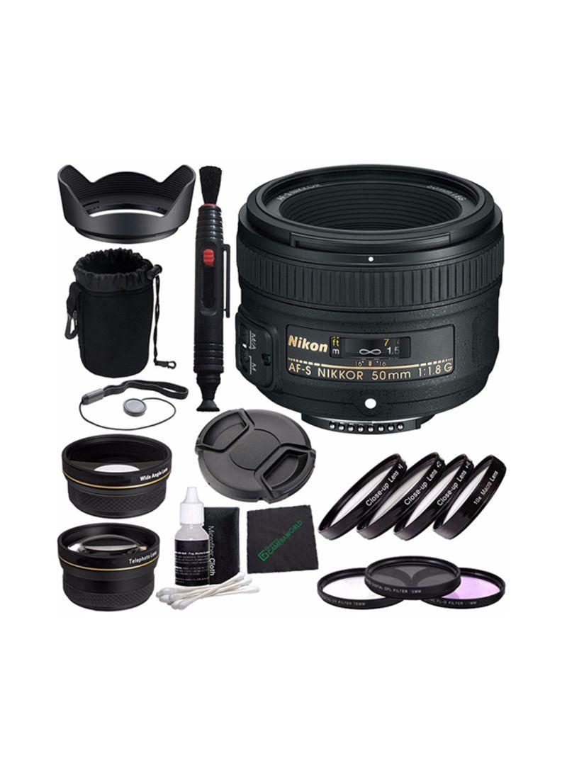 AF-S NIKKOR 50mm F/1.8G Lens Kit For Nikon Black