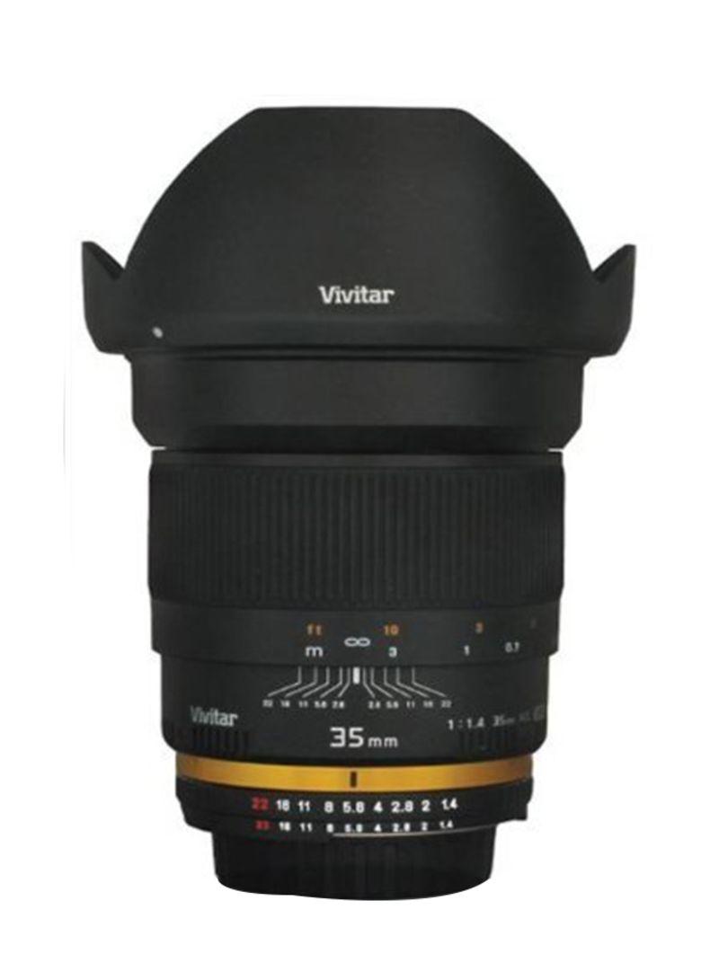 35mm f/1.4 Wide Angle Lens For Nikon Digital Camera Black