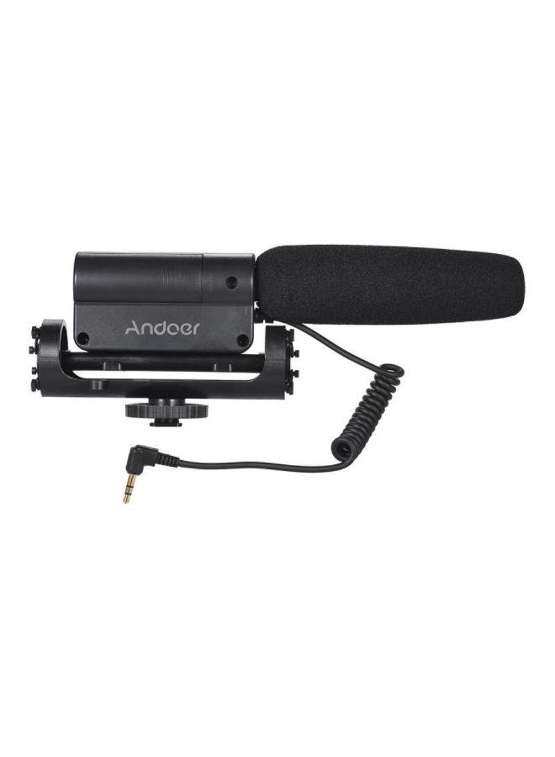 Interview Recording Condenser Microphone LU-D5212 Black