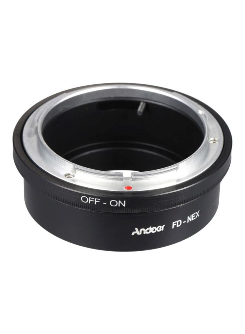 Lens Mount Adapter Ring For Canon FD /Sony NEX E Mount Digital Camera Body Black/Silver